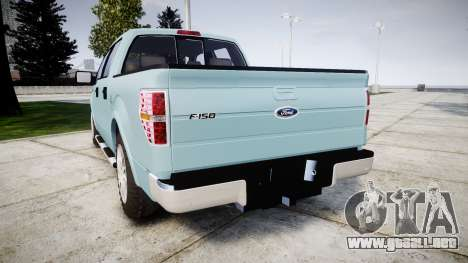 Ford Lobo 2012 para GTA 4 Vista posterior izquierda