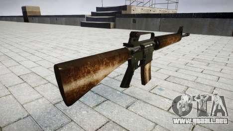 El rifle M16A2 polvo para GTA 4 segundos de pantalla