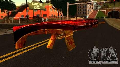 La Víspera de Año nuevo Rifle de Asalto para GTA San Andreas segunda pantalla