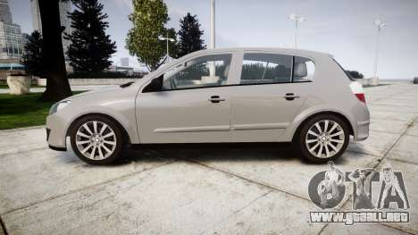 Vauxhall Astra 2009 Police [ELS] Unmarked para GTA 4 left