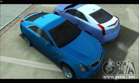 Cadillac CTS-V Coupe para GTA San Andreas vista posterior izquierda
