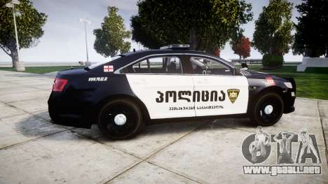 Ford Taurus 2013 Georgia Police [ELS] para GTA 4 left