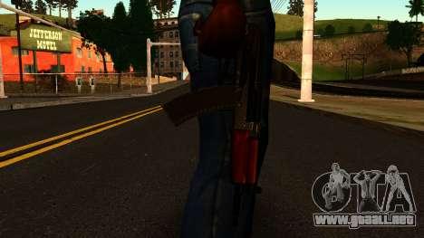 Oscuro AKS-74U v2 para GTA San Andreas tercera pantalla