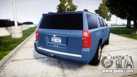 Chevrolet Suburban 2015 para GTA 4 Vista posterior izquierda