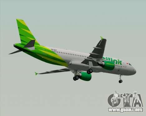 Airbus A320-200 Citilink para las ruedas de GTA San Andreas