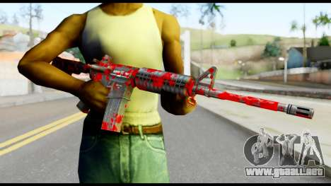 M4 with Blood para GTA San Andreas tercera pantalla