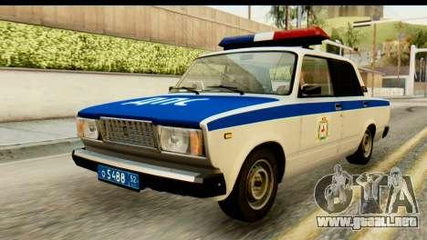 VAZ 2107 DPS para GTA San Andreas