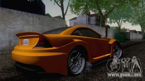 Benefactor Feltzer GTA V para GTA San Andreas vista posterior izquierda