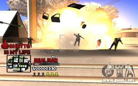 С-HUD Gueto es Mi Vida para GTA San Andreas segunda pantalla