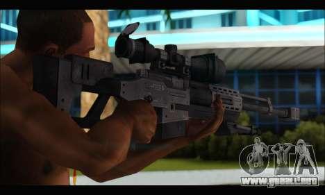Raab KM50 Sniper Rifle From F.E.A.R. 2 para GTA San Andreas sucesivamente de pantalla
