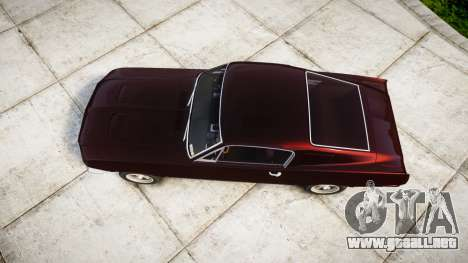 Ford Mustang GT Fastback 1968 para GTA 4 visión correcta
