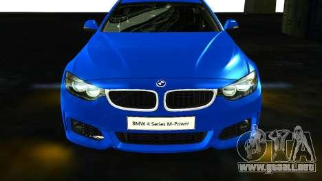 BMW 4-Series Coupe M Sport 2014 para la visión correcta GTA San Andreas