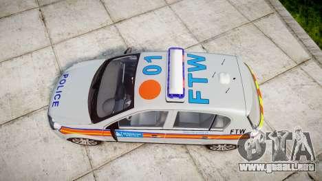 Vauxhall Astra 2010 Police [ELS] Whelen Liberty para GTA 4 visión correcta