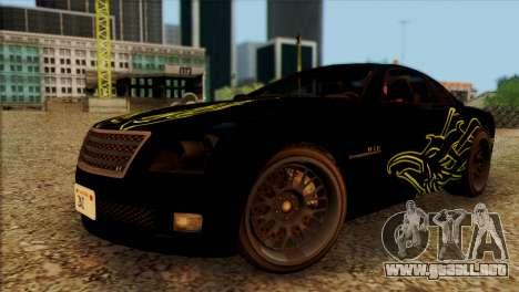 Schyster Fusilade Sport 1.0 (HQLM) para GTA San Andreas vista hacia atrás