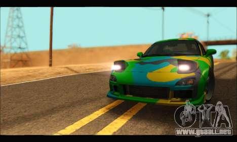 Mazda RX-7 Camo para la visión correcta GTA San Andreas