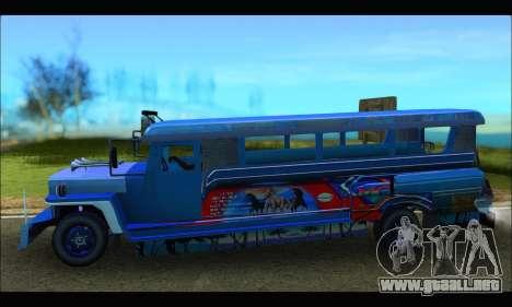 Jeepney Morales para GTA San Andreas left