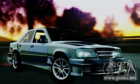 Mercedes-Benz W124 BRABUS V12 para GTA San Andreas vista posterior izquierda