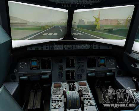 Airbus A320-200 Scandinavian Airlines - SAS para GTA San Andreas interior