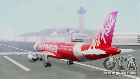 Air Asia Airbus A320 PK-AZF para GTA San Andreas left