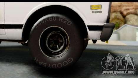 Chevrolet C10 1972 para la visión correcta GTA San Andreas