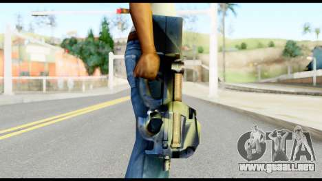 P90 from Metal Gear Solid para GTA San Andreas tercera pantalla