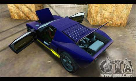 Vapid Bullet Gt (GTA IV) (LC Plate) para visión interna GTA San Andreas