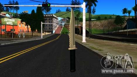 Knife from GTA 4 para GTA San Andreas segunda pantalla