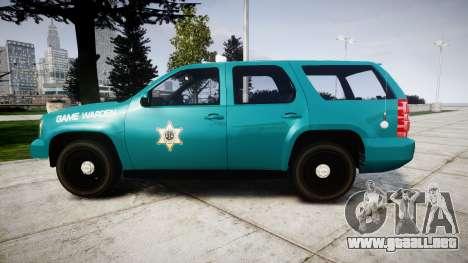 Chevrolet Tahoe 2013 Game Warden [ELS] para GTA 4 left
