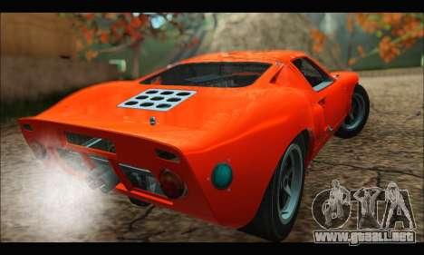 Ford GT40 MKI 1965 para GTA San Andreas vista posterior izquierda
