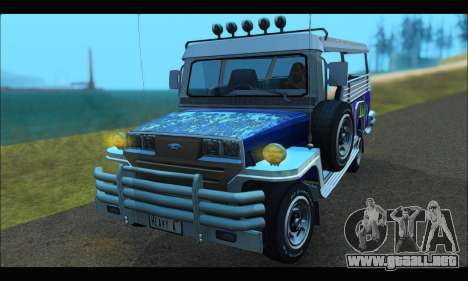 Jeepney from Binan para GTA San Andreas left