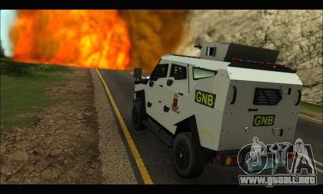 Oshkosh Sand Cat GNB para la visión correcta GTA San Andreas