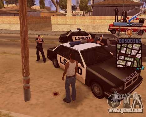 C-HUD Russian Mafia para GTA San Andreas quinta pantalla