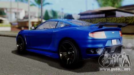 GTA 5 Dewbauchee Massacro Racecar para GTA San Andreas left