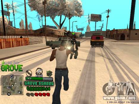 C-HUD Grove Street para GTA San Andreas novena de pantalla