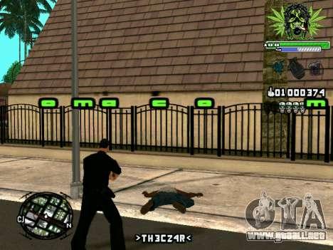C-HUD Marihaus para GTA San Andreas quinta pantalla