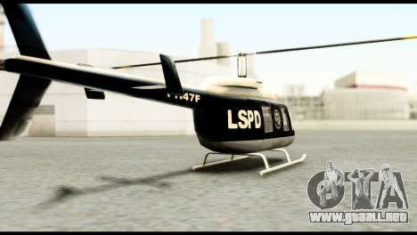 Beta Police Maverick para GTA San Andreas left