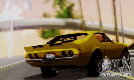 Chevrolet Camaro Mk.II para GTA San Andreas left