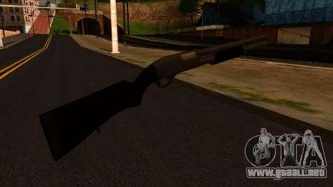 Negro MP-133 Plata para GTA San Andreas segunda pantalla