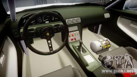 Nissan 240SX Sil80 para GTA 4 vista hacia atrás