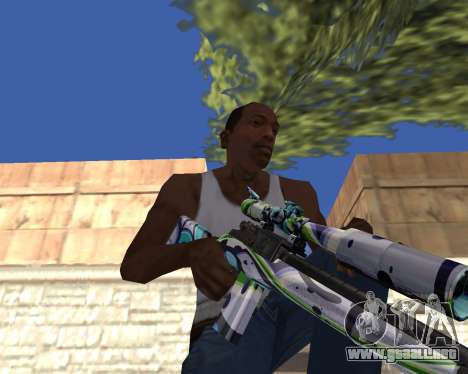 Graffity weapons para GTA San Andreas sucesivamente de pantalla