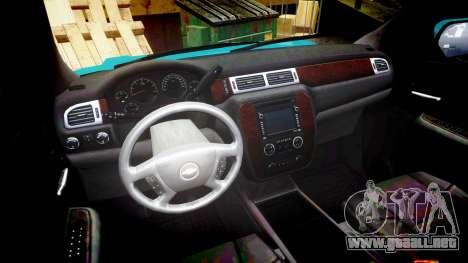 Chevrolet Tahoe 2013 County Sheriff [ELS] para GTA 4 vista hacia atrás