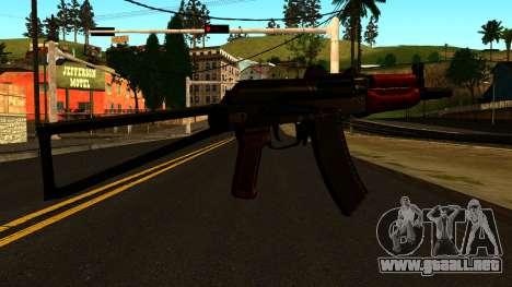 Oscuro AKS-74U v1 para GTA San Andreas segunda pantalla
