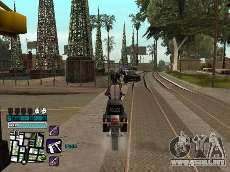 Beautiful C-HUD para GTA San Andreas sucesivamente de pantalla