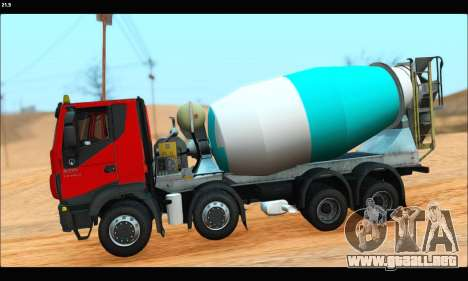 Iveco Trakker 2014 Concrete (IVF & ADD) para GTA San Andreas left