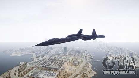 Lockheed SR-71 Blackbird para GTA 4 visión correcta