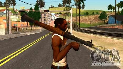 Rocket Launcher from GTA 4 para GTA San Andreas tercera pantalla