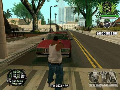 C-HUD Marihaus para GTA San Andreas tercera pantalla