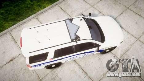 Chevrolet Tahoe 2015 LCPD [ELS] para GTA 4 visión correcta