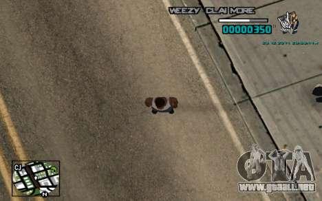 C-HUD Weezy para GTA San Andreas segunda pantalla