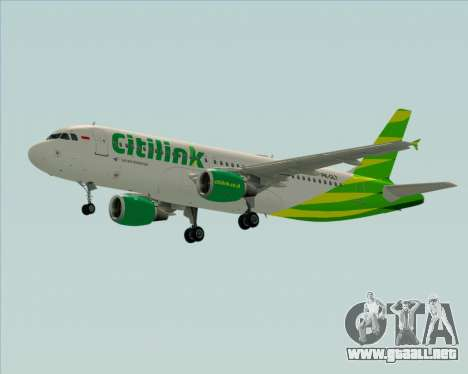 Airbus A320-200 Citilink para visión interna GTA San Andreas